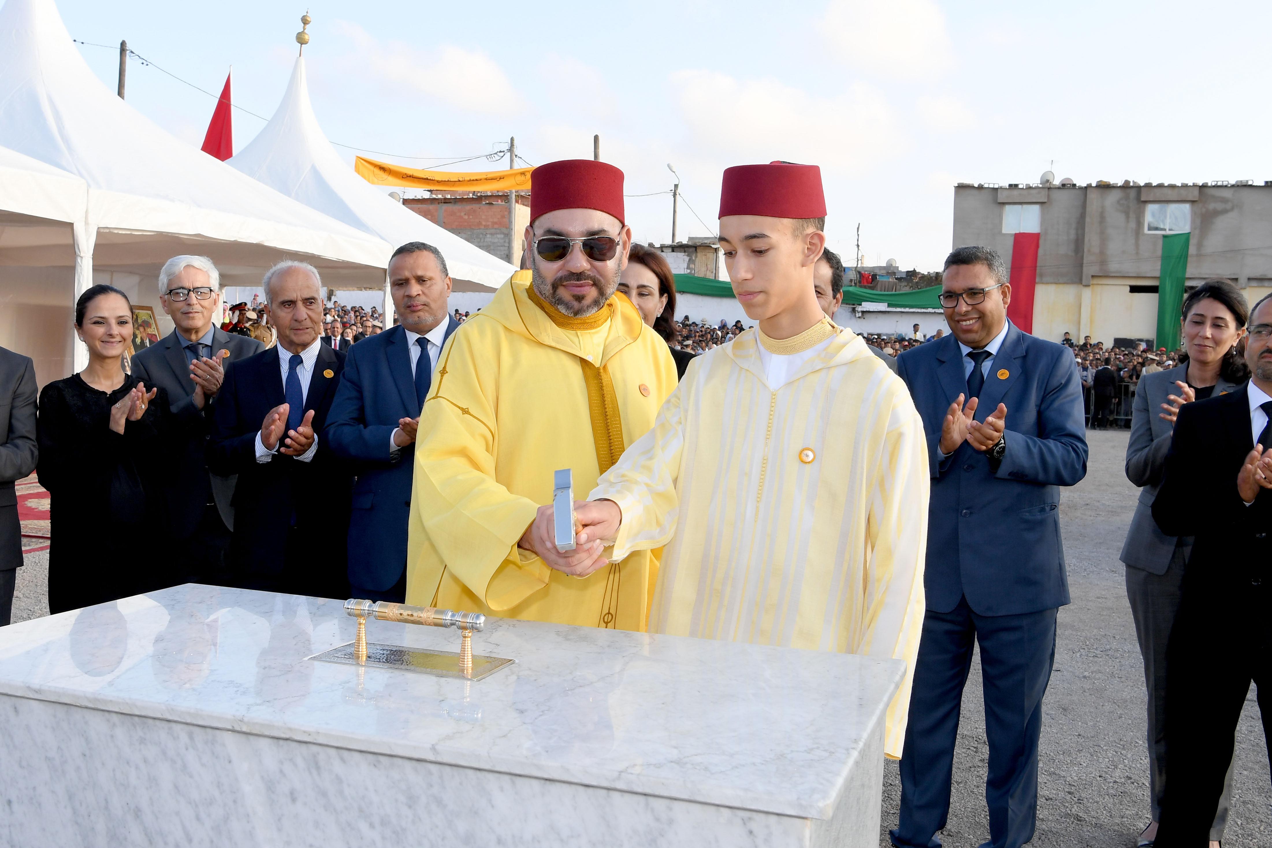 جلالة الملك يعطي الانطلاقة لإنجاز ثلاثة مشاريع تضامنية لفائدة النساء والشباب